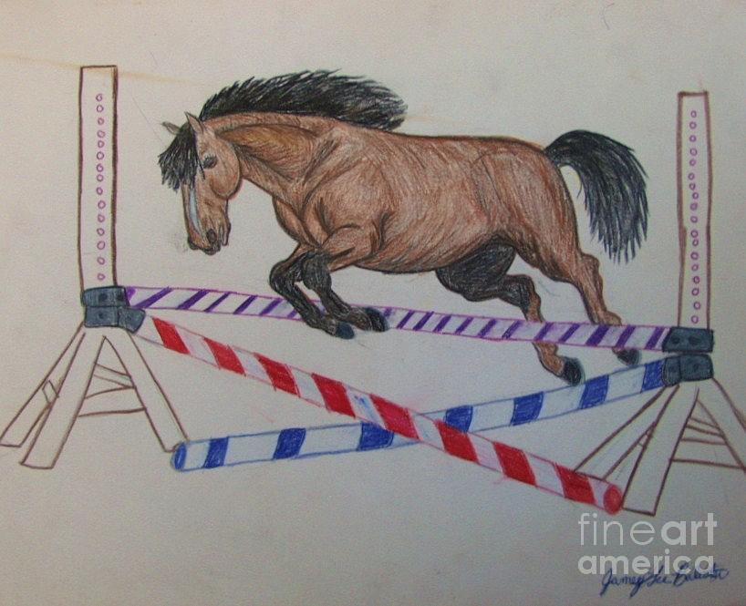 Horse Drawing - Jumper by Jamey Balester