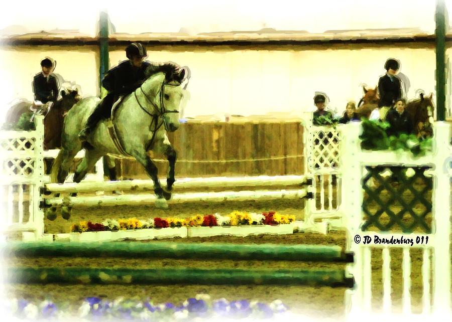 Horse Photograph - Jumpin Coolville by JD Brandenburg