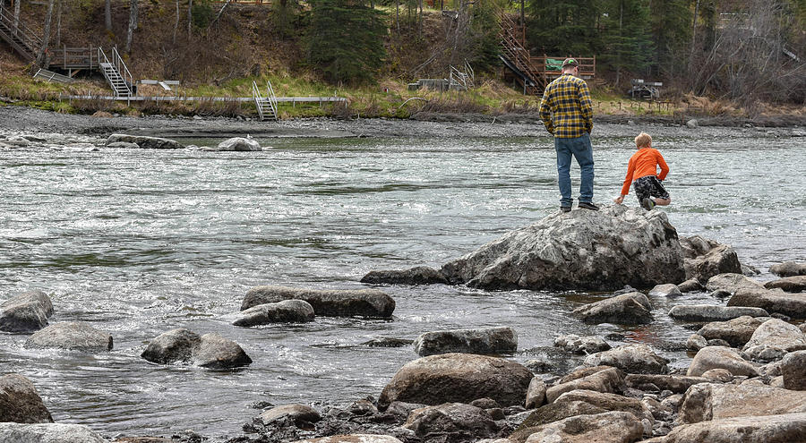 Kenai River Photograph - Jumping Down by Crewdson Photography