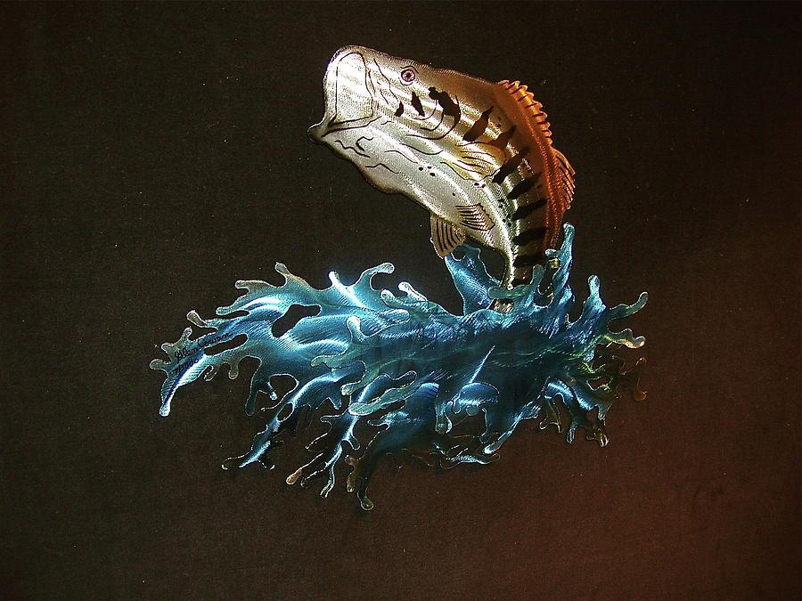 Steel Sculpture - jumping Jack Bass by Glen Cowan
