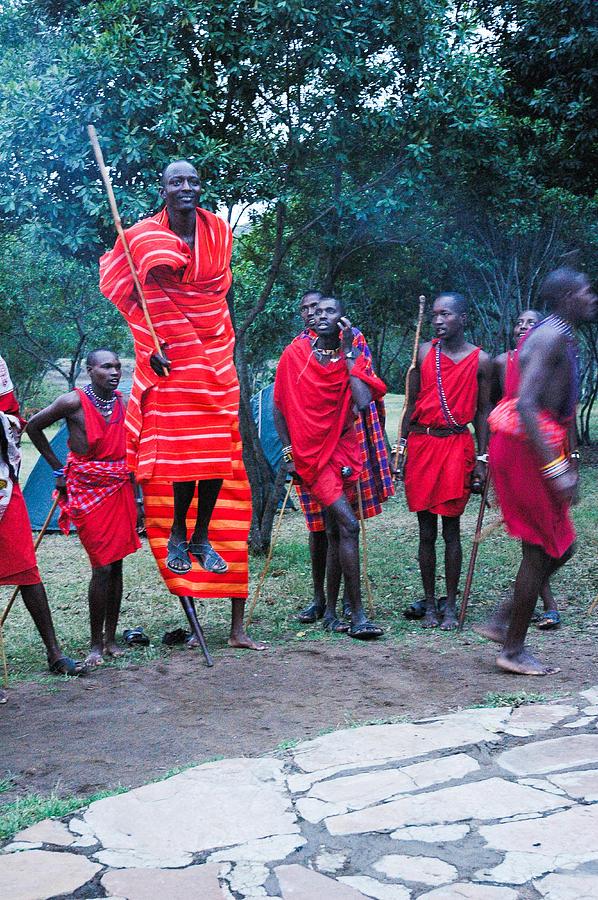 Jumping Masai Photograph