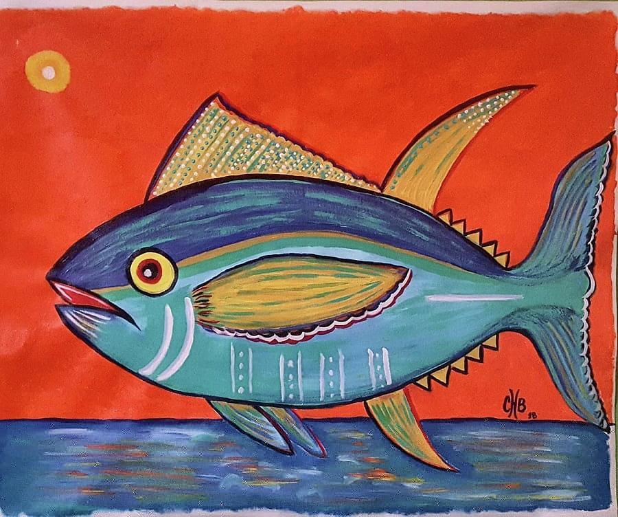 Jumping Tuna II Painting