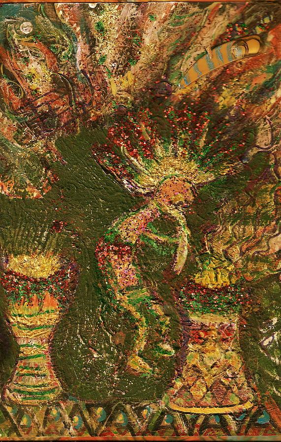 Folklore Painting - Jumpinjack Flash Kokopelli by Anne-Elizabeth Whiteway
