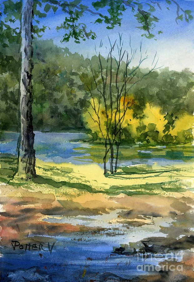 Junction of White and Spring Rivers by Virginia Potter