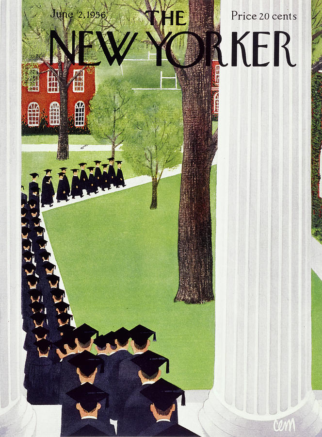 New Yorker June 2 1956 Painting by Charles E Martin