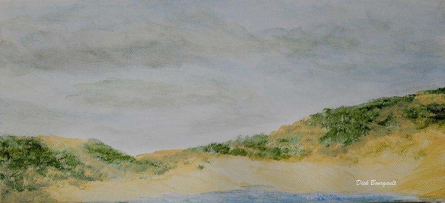 Dunes Painting - June Dune by Dick Bourgault