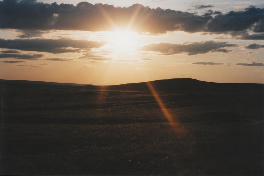Sky Photograph - June Sun Rays North Dakota by Gene Linder