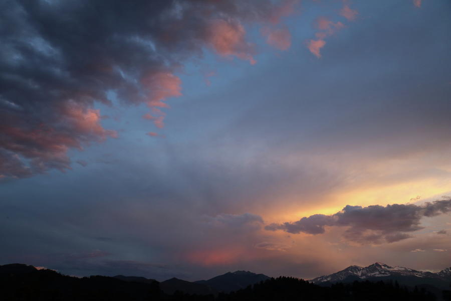 June Sunset Longs Peak by Laura Davis
