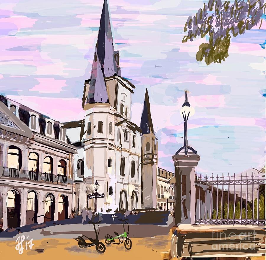 June, Where in the World is my ElliptiGO? Painting by Francois Lamothe
