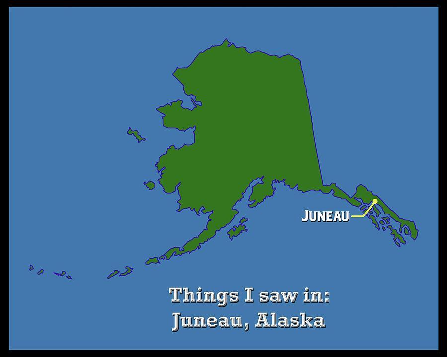 Juneau Digital Art - Juneau Alaska by Bradley Bennett