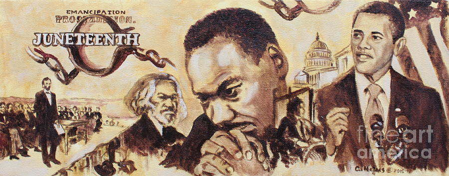 Juneteenth Painting - Juneteenth 2015 by Clinton Helms
