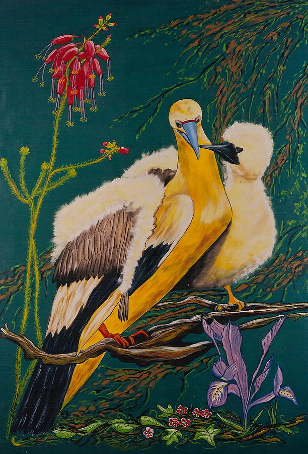 Birds Painting - Jungle Baby by V Boge