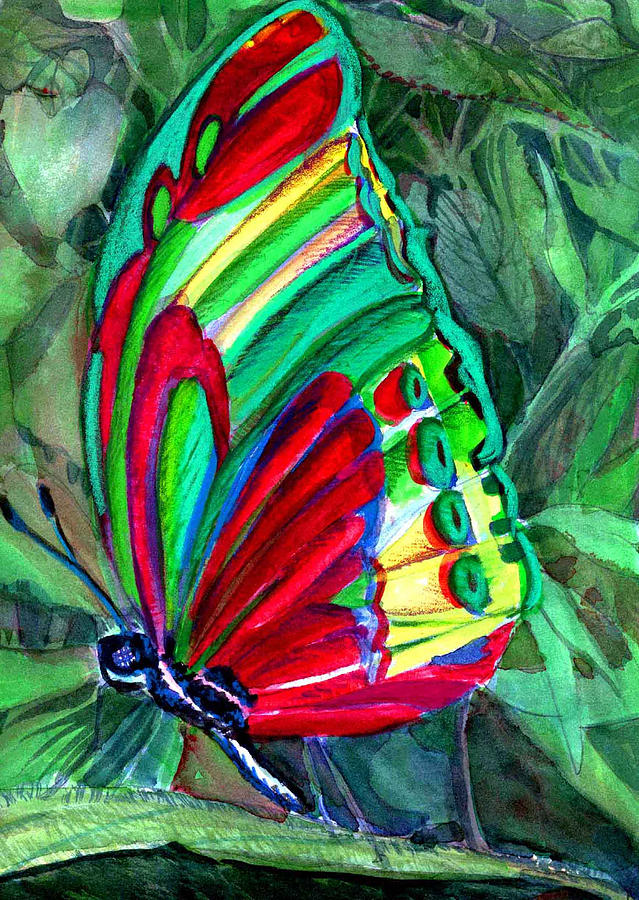 Fly Painting - Jungle Butterfly by Mindy Newman