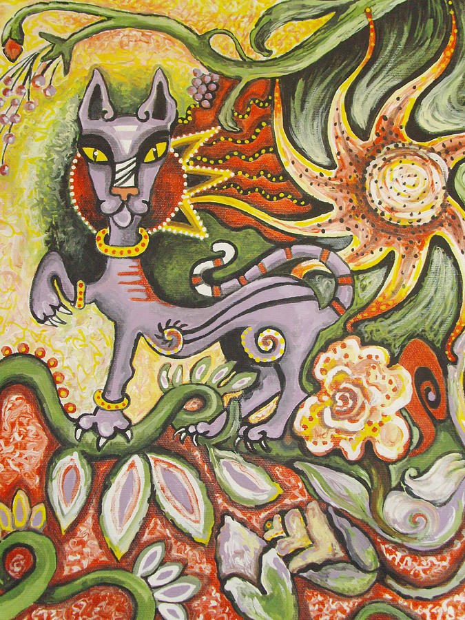 Cat Painting - Jungle Cat by Elizabeth Bonanza