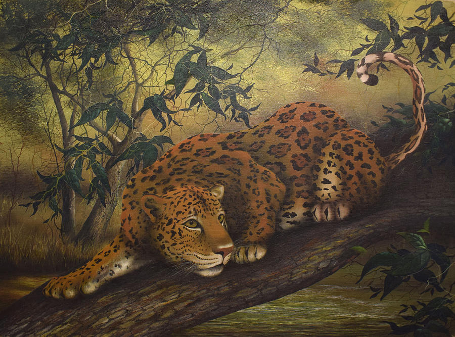 Animals Painting - Jungle Cat by Jerry Sauls