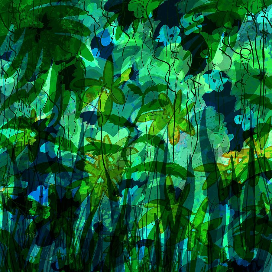 Abstract Digital Art - Jungle Colors by Rachel Christine Nowicki