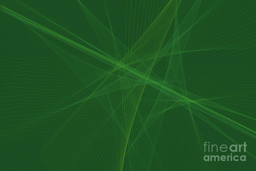 Abstract Digital Art - Jungle Computer Graphic Line Pattern by Frank Ramspott