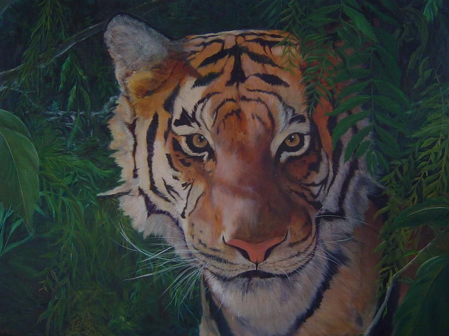 Tiger Painting - Jungle Eyes by James Berger