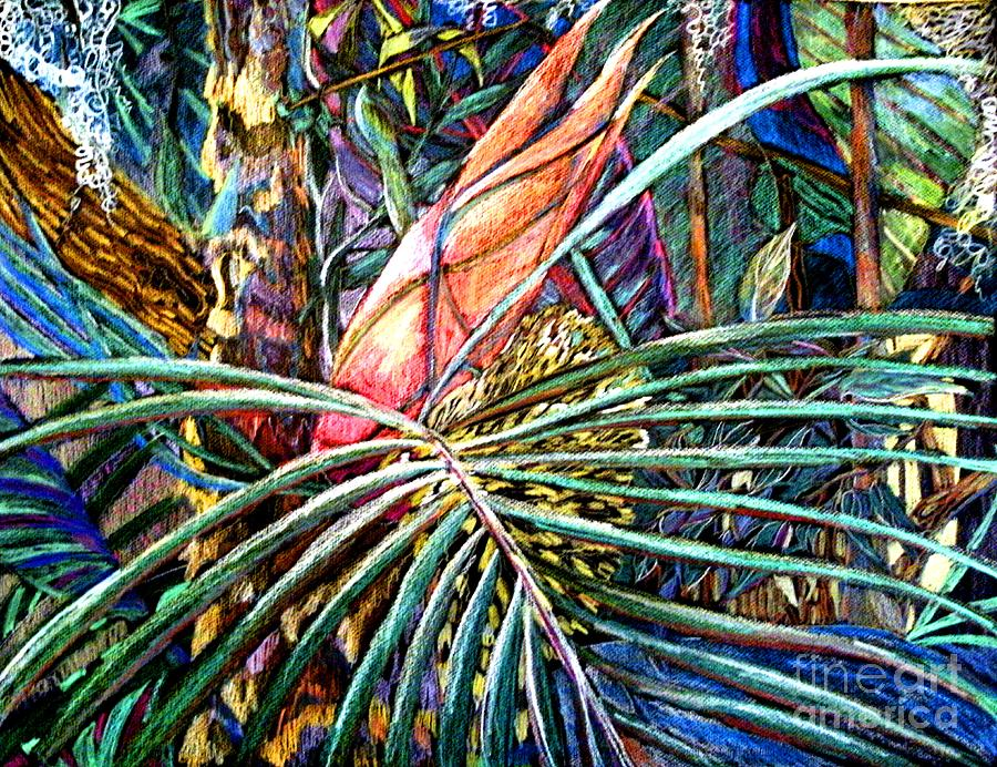 Palm Painting - Jungle Fever by Mindy Newman