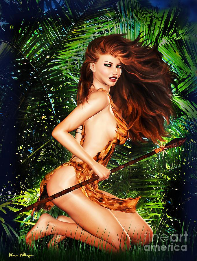 Erotic jungle girl cartoon