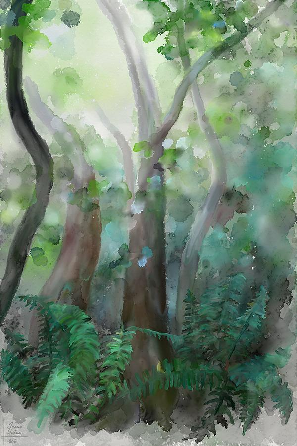 Forest Painting - Jungle by Ivana Westin