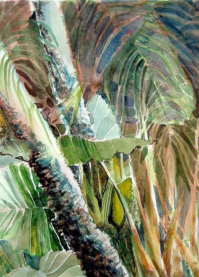 Palm Tree Painting - Jungle Light by Mindy Newman