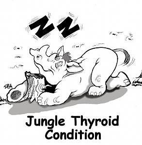 Cartoon Drawing - Jungle Thyroid Condition by Ira Monroe