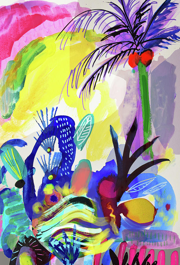 Drawing Painting - Jungle Vision by Amara Dacer