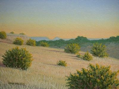 Landscape Painting - Juniper Shadows by Thaw Malin III