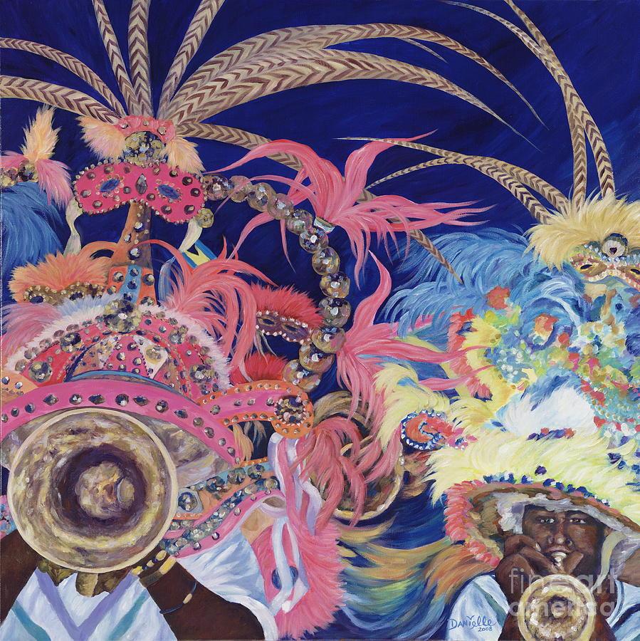 Bahamas Painting - Junkanoo by Danielle  Perry