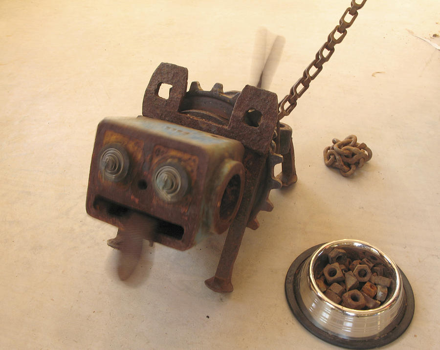 Junk Sculpture - Junkyard Dog by Windy Dankoff