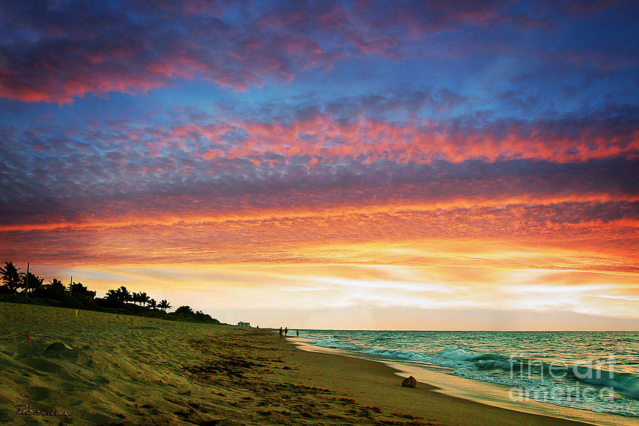 Juno Photograph - Juno Beach Florida Sunrise Seascape D7 by Ricardos Creations
