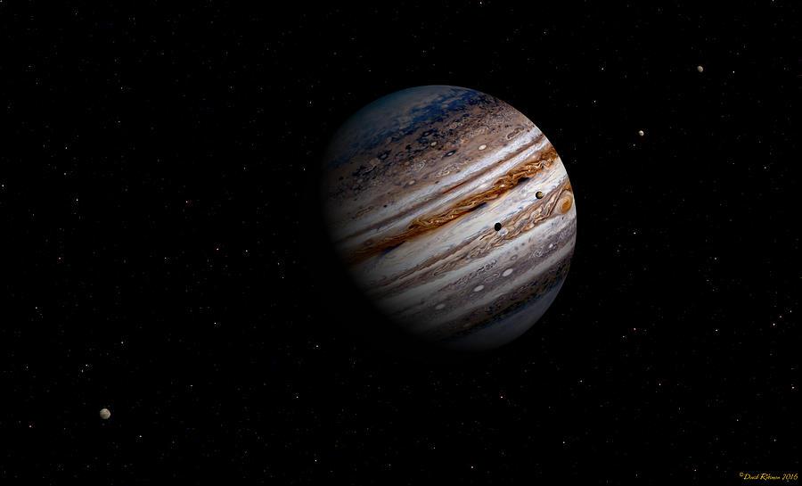 Jupiter and it 4 major moons by David Robinson