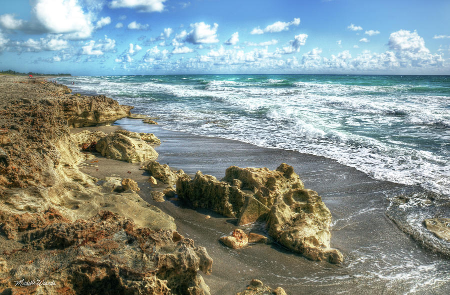 jupiter island blowing rocks preserve florida photograph