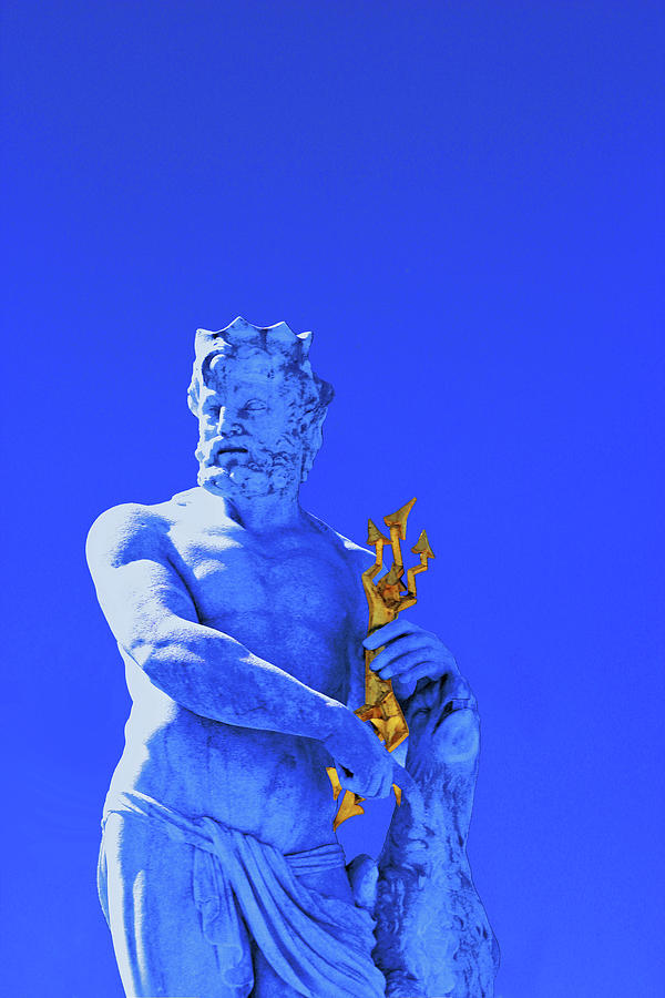 Jupiter Photograph - Jupiter Statue - Nymphenburg Palace - Munich by Ralph Frankenberg