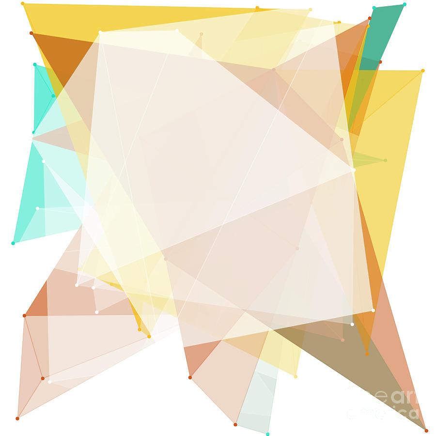 Abstract Digital Art - Jura Polygon Pattern by Frank Ramspott