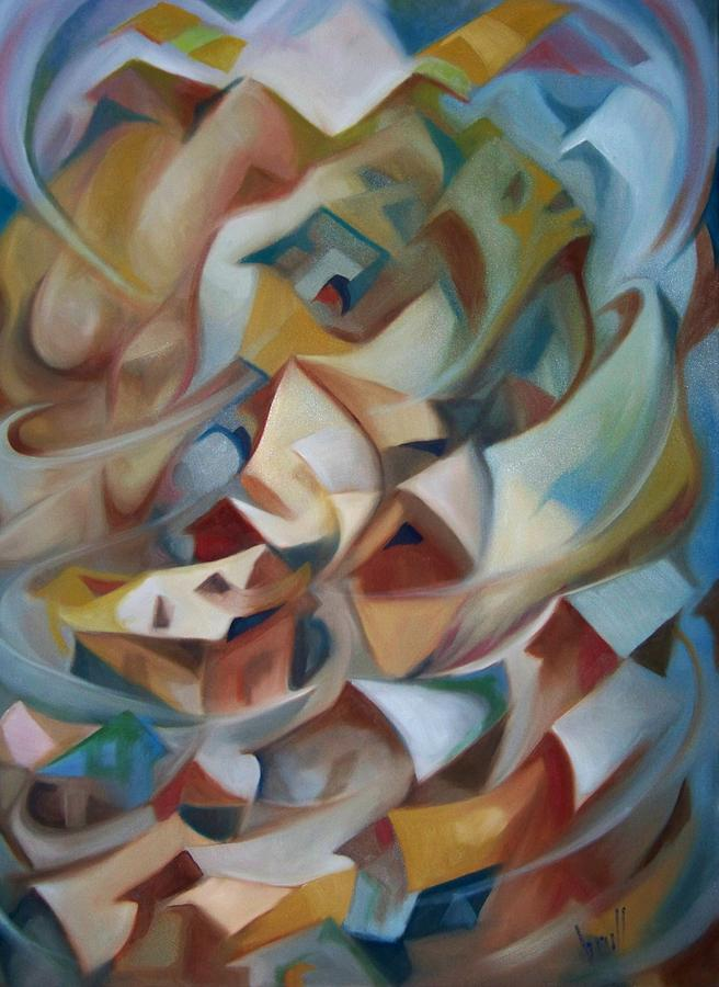 Abstract Painting - Juracan by Pedro Brull