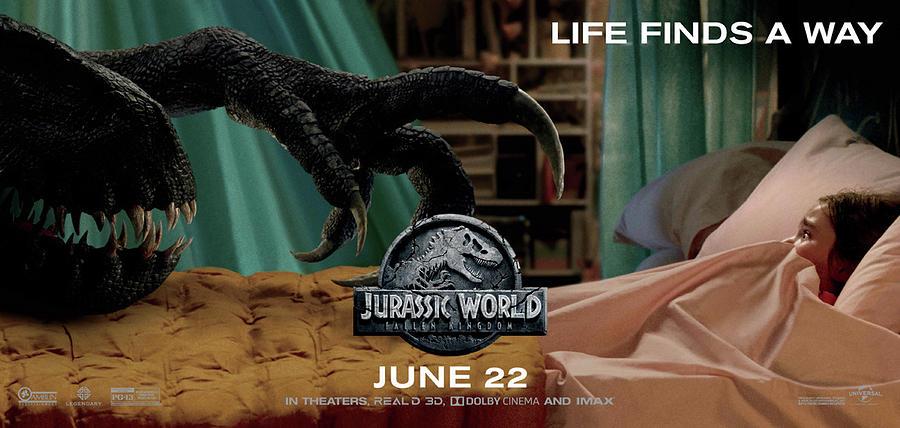 Jurassic World Mixed Media - Jurassic World Fallen Kingdom 2.5 by Movie Poster Prints