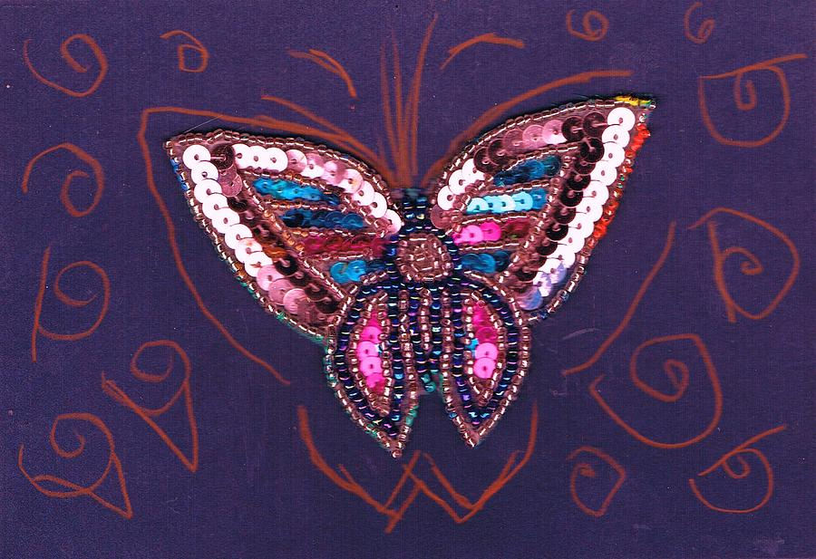 Butterfly Mixed Media - Just A Bit Of  The Whimsical  by Anne-Elizabeth Whiteway