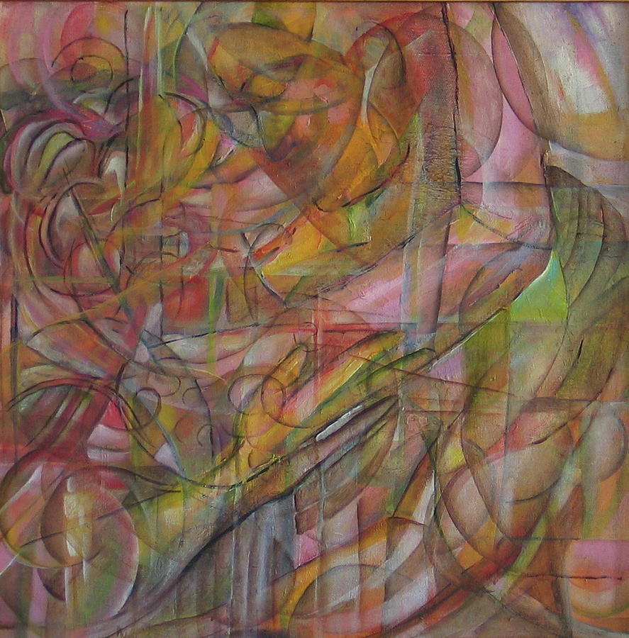 Abstract Painting - Just A Kiss by Amy  Markham
