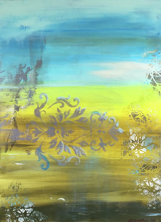 Colorful Painting - Just Another Damask In Paradise by Richy Sharshan