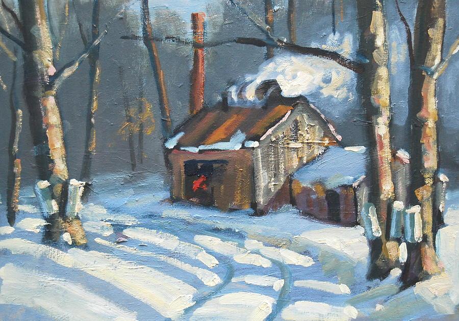 Berkshire Hills Paintings Painting - Just Around The Corner by Len Stomski