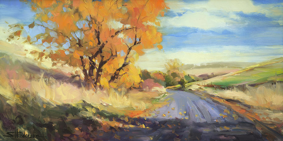 Country Painting - Just Around the Corner by Steve Henderson