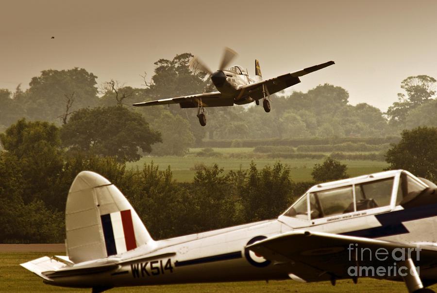Aircraft Photograph - Just Before Landing by Angel Ciesniarska