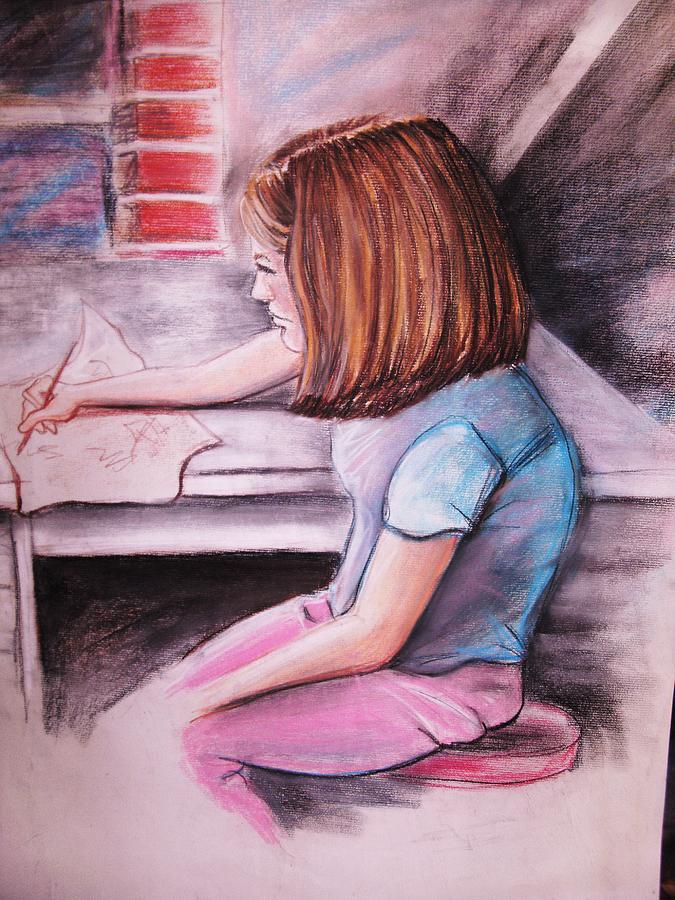 Girl Pastel - Just Draw Me by Scott Easom