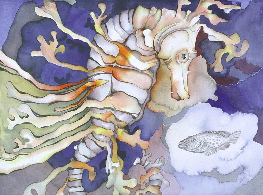 Sealife Painting - Just Dreaming Too by Liduine Bekman