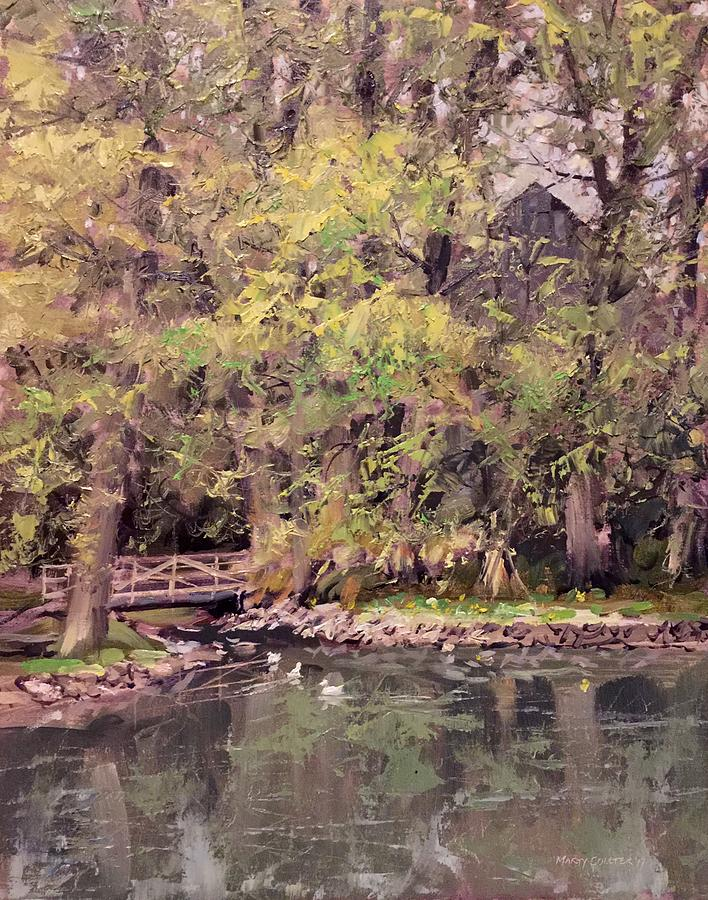 Landscape Painting - Just Ducky by Marty Coulter