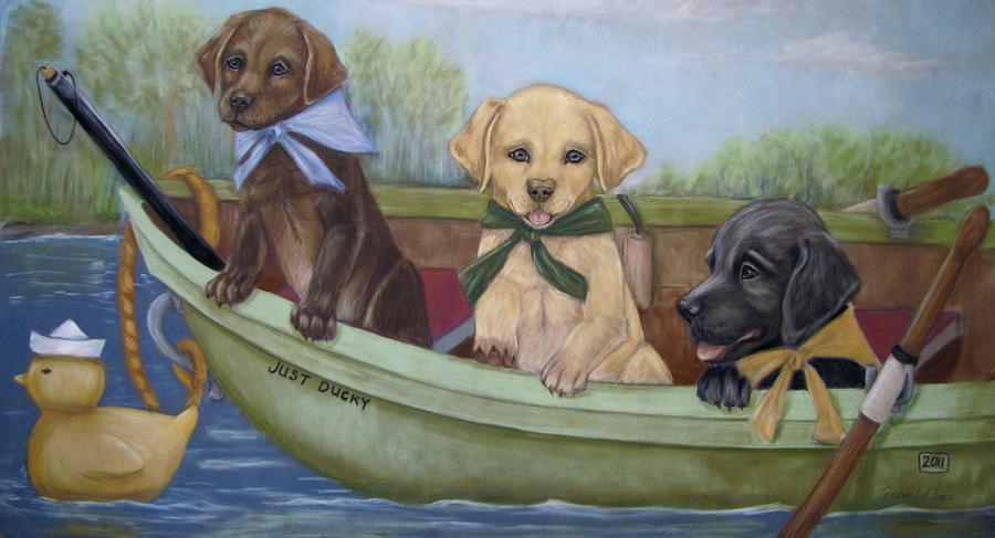 Puppies Pastel - Just Ducky by Teresa LeClerc