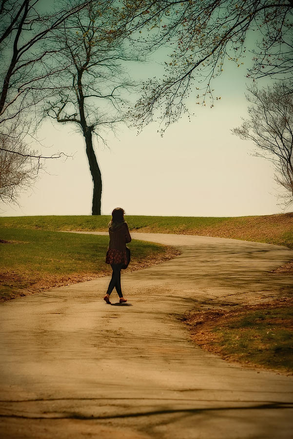 Walk Photograph - Just For A Moment by Louis Rivera