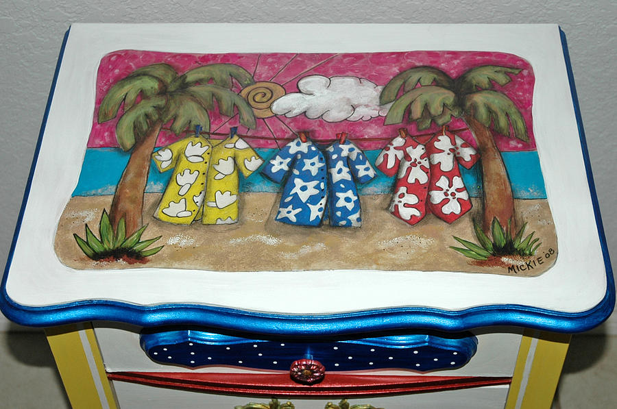 Night Stand Mixed Media - Just Hangin by Mickie Boothroyd